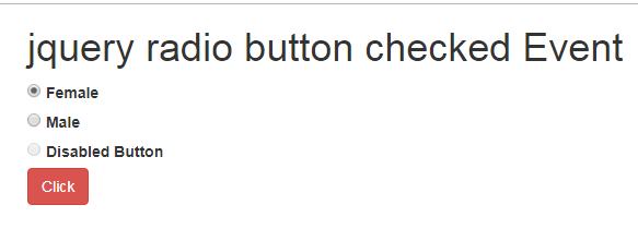 JQuery Radio Button Checked