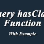 jQuery hasClass
