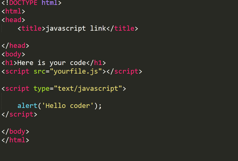 Link JavaScript to Html