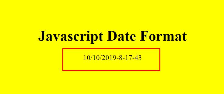 javascript date format mm/dd/yyyy