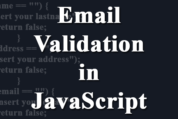 email validation in javascript