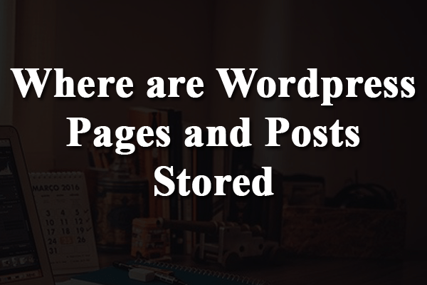 Where are Wordpress Pages and Posts Stored