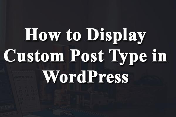 wp_query custom post type