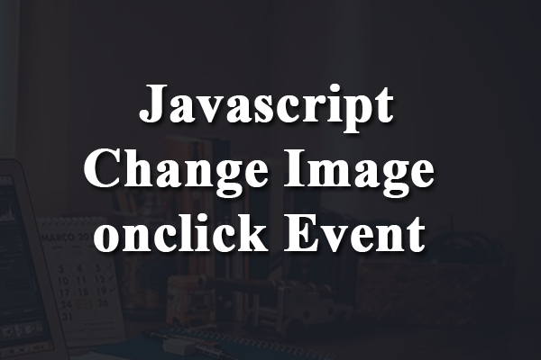 javascript change image onclick event