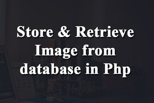 store and retrieve image from database in php