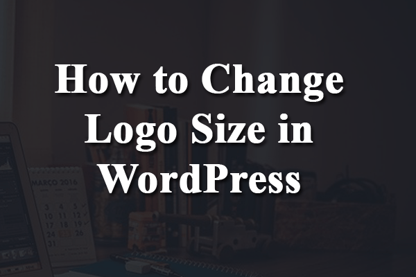 how to change logo size in wordpress